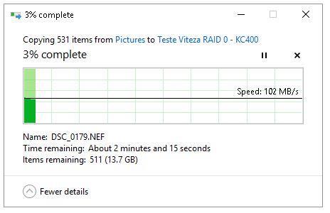 Transfer RAID 0 pe SSD