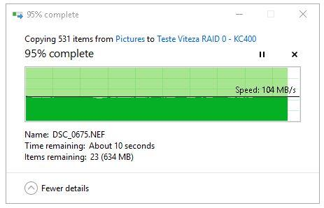 Transfer RAID 0 pe SSD final