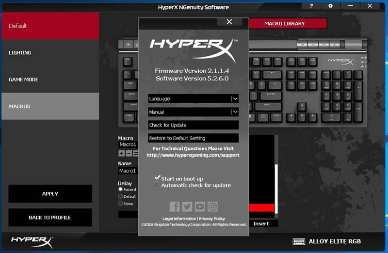 HyperX Alloy Elite RGB - 8