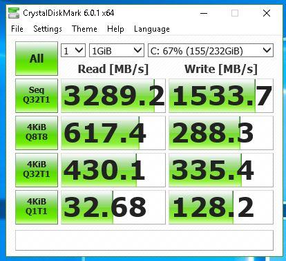Samsung 970 Evo - CrystalDisk
