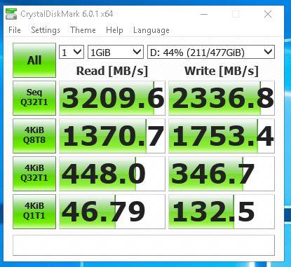 Samsung 970 Pro - CrystalDisk